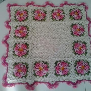toalha de croche