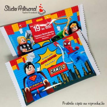 Convite Pipoca - Lego Construtor