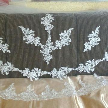 véu mantilha longo renda branco