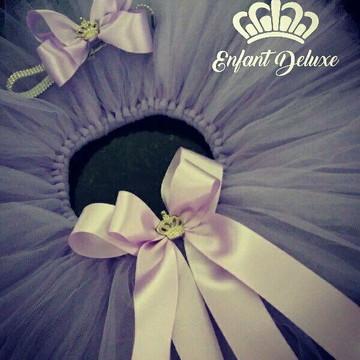 Saia tutu lilás - princesa Sofia