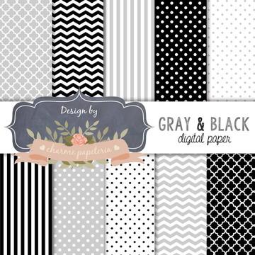 Papel Digital Cinza e preto
