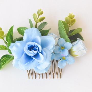 ARRANJO FLORAL PARA CABELO BLUE FLOWERS