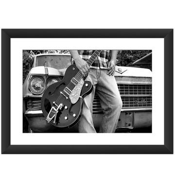 Quadro Guitarra Musica Rock Blues Retro