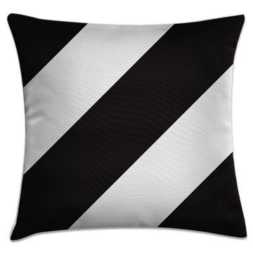 capa almofada cruzado preto e branco