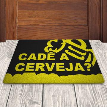 Tapete Capacho Cade a Cerveja - Preto - 60x40cm