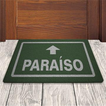 Tapete Capacho Paraiso - Verde Musgo - 60x40cm