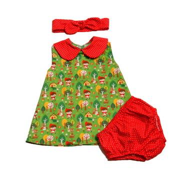 Vestido trapézio - Chapeuzinho Vermelho