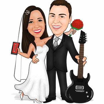Caricatura para Casamento, Aniversário.
