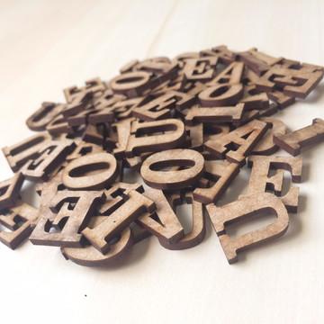 Mini Letras de MDF - 2x2 cm