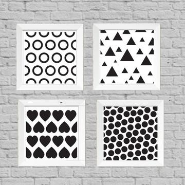 Kit quadros preto e branco