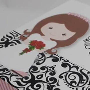 Caixa Convite 12x12x4 Dama,Florista,Pajem,Bonequinhos,