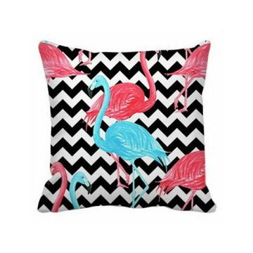 Almofada Chevron Flamingos - Capa