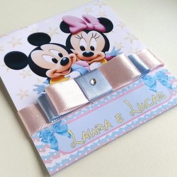 Convite Minnie e Mickey Baby 01 - LC