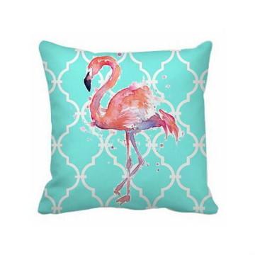 Almofada Turquesa Flamingo - Capa