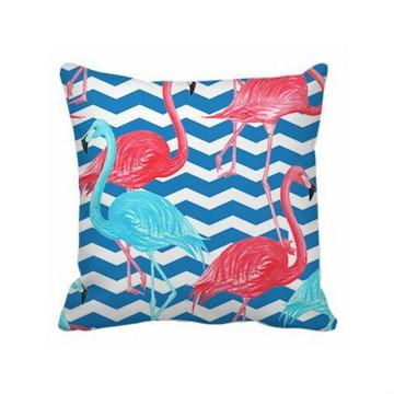 Almofada Flamingo Rosa e Azul - Capa