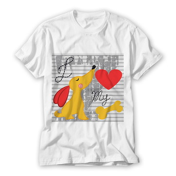 Camiseta Infantil I love My Dog
