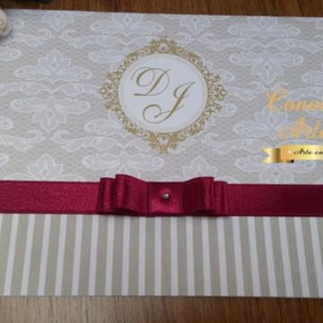 Convite Casamento /Marsala /15 Anos
