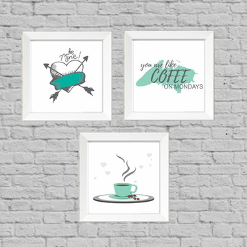 Kit quadros decor ccafe