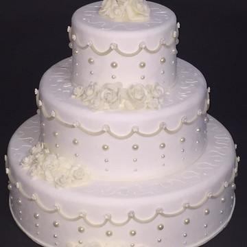 Bolo Cenográfico Biscuit Casamento