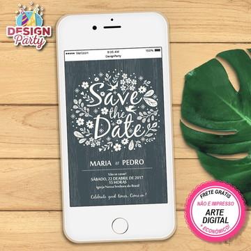 Save the Date Digital Casamento - lousa