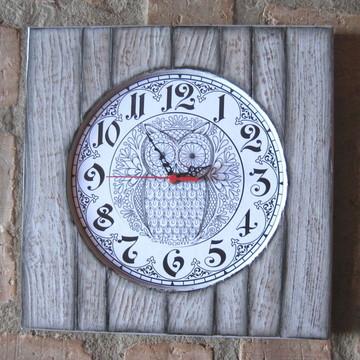 Relógio de Parede - Coruja