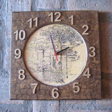 Relógio de Parede - Pinheiro
