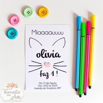 Convite Gatinha