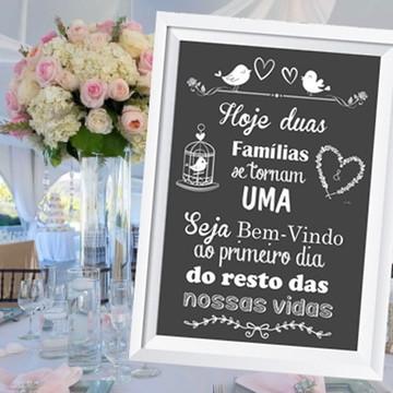 Quadro Digital Chalkboard Festa Casamento