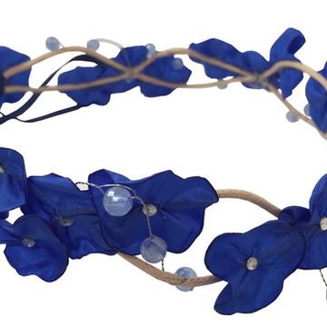 Headband Coroa de Fada Azul Royal