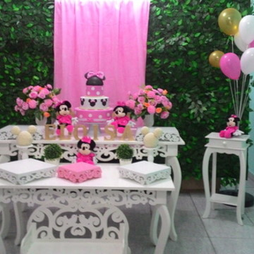 Locacao decoracao minnie rosa