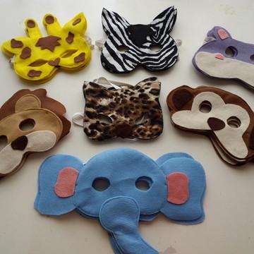 Máscara bichinhos safari e arca de noé