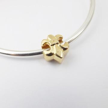Berloque Banhado Ouro - Flor de LIS