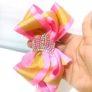 tiara infantil de luxo laço boutique