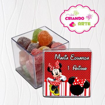 Caixinha de Acrílico Minnie Vermelha