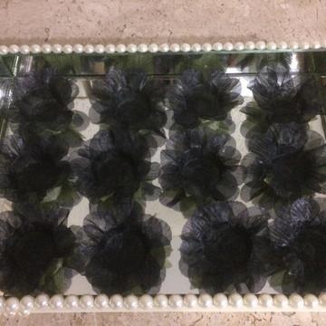 Forminhas de Tecido Preta Magnólias