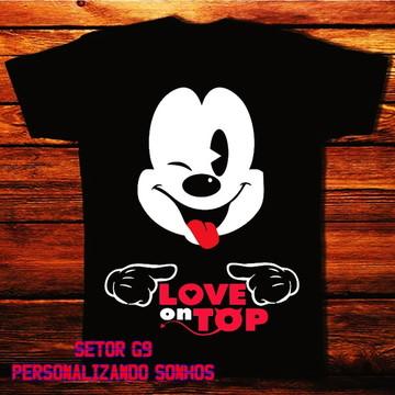 camiseta mickey love top