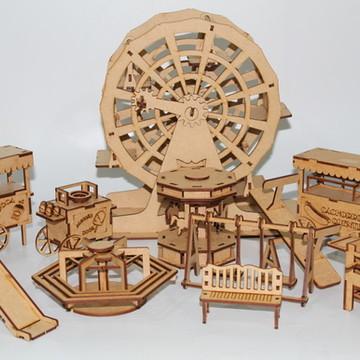 Cenário Parque de Diversão brinquedo