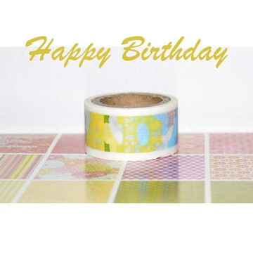 Washi Tape aniversário Recollections - W00783n