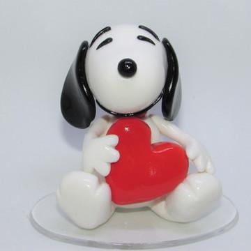 Snoopy - Miniatura em biscuit