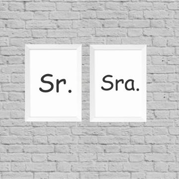 Kit quadros Sr. e Sra.