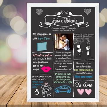 Quadro Digital Chalkboard Casamento