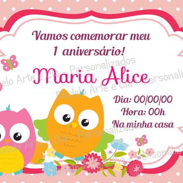 Convite Corujinhas
