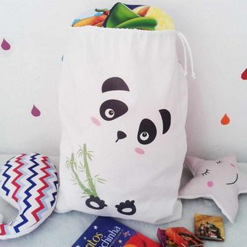 Saco Organizador de Brinquedos Panda