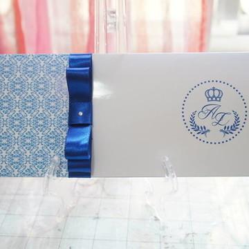 Convite de 15 anos Azul