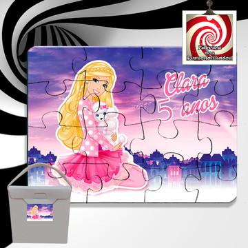 Quebra Cabeça Lembrancinha Barbie