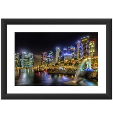 Quadro Singapura Cidade Asia Oriente Art