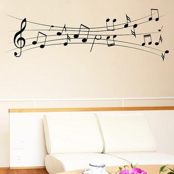 Adesivo de Parede Musical Cifras Musicai