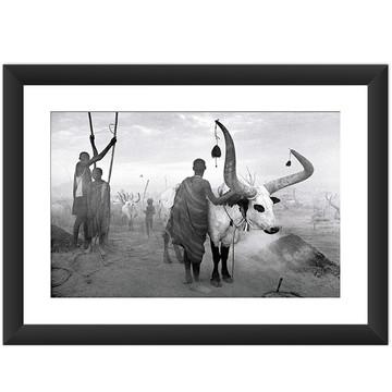 Quadro Africa Aldeias Preto Branco Arte