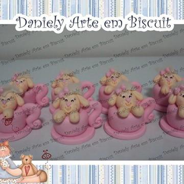 Aplique ovelhinha biscuit na xícara