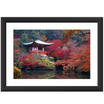 Quadro Japao Jardim Japones Oriental Art